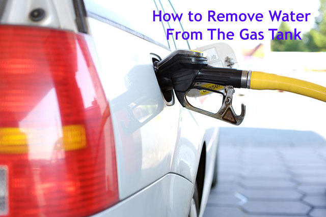 how to remove water in gas tank